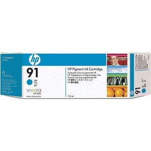 C9467A - HP 91 775-ml Pigment Cyan Ink Cartridge for the HP Designjet Z6100 Printer, HP Designjet Z6100PS Printer - CoolGraphicStuff.com