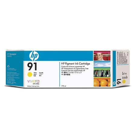 C9469A - HP 91 775-ml Pigment Yellow Ink Cartridge for the HP Designjet Z6100 Printer, HP Designjet Z6100PS Printer