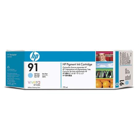 C9470A - HP 91 775-ml Pigment Light Cyan Ink Cartridge for the HP Designjet Z6100 Printer, HP Designjet Z6100PS Printer
