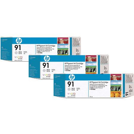 HP 91 Light Gray 3-pack - C9482A - 3 x C9466A