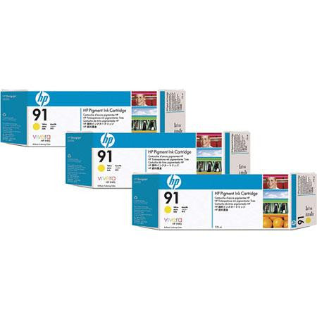 HP 91 Yellow 3-pack - C9485A - 3 x C9469A