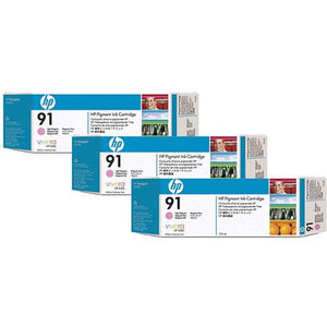 HP 91 Light Magenta 3-pack - C9487A - 3 x C9471A - CoolGraphicStuff.com