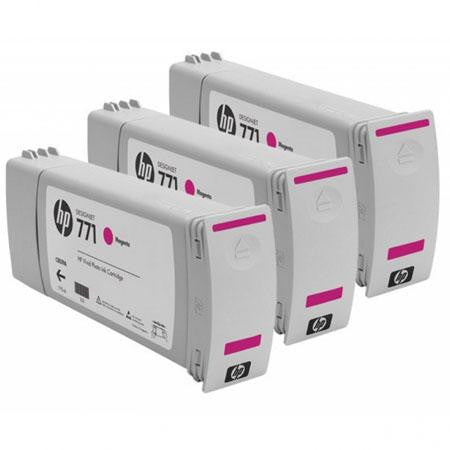HP 771 Magenta Ink Cartridge 3-pack - CR252A - CoolGraphicStuff.com