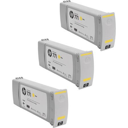 HP 771 Yellow Ink Cartridge 3-pack - CR253A