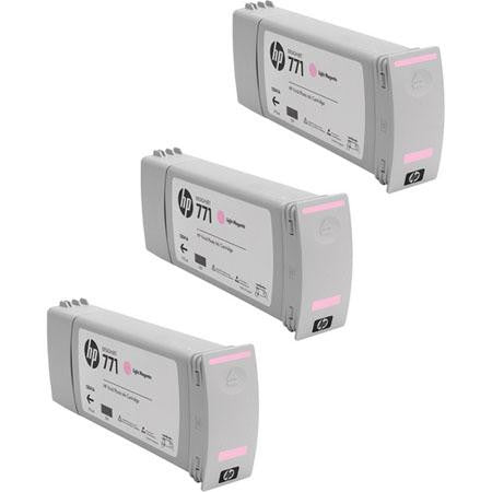 HP 771 Light Magenta Ink Cartridge 3-pack - CR254A - CoolGraphicStuff.com