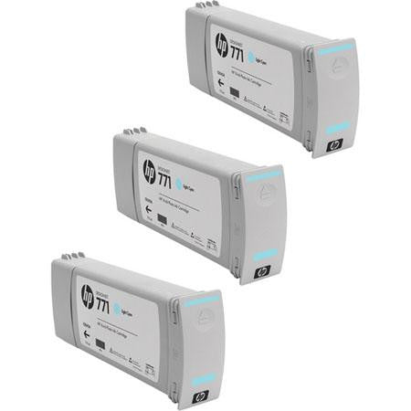 HP 771 Light Cyan Ink Cartridge 3-pack - CR255A - CoolGraphicStuff.com