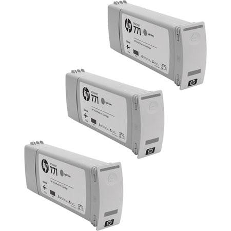 HP 771 Light Gray Ink Cartridge 3-pack - CR257A