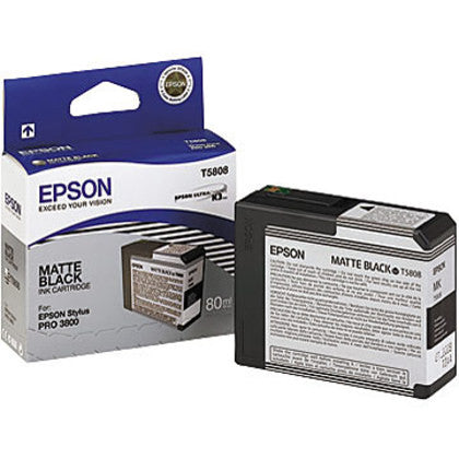 T580800 - Epson Stylus Pro 3800 - 80ml Matte Black UltraChrome K3 Ink Cartridge - CoolGraphicStuff.com
