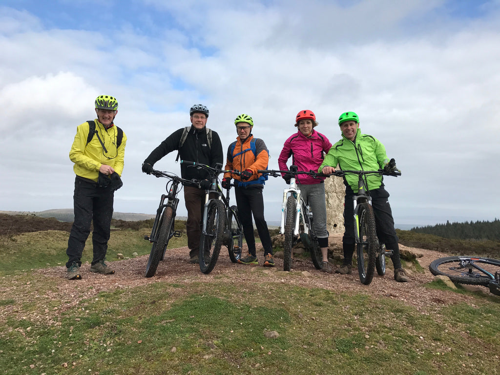 Quantocks on electric bikes
