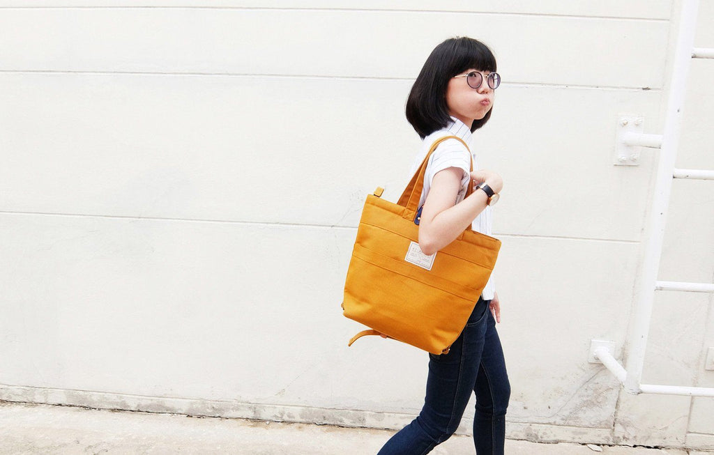 yellow urban fashion backpack