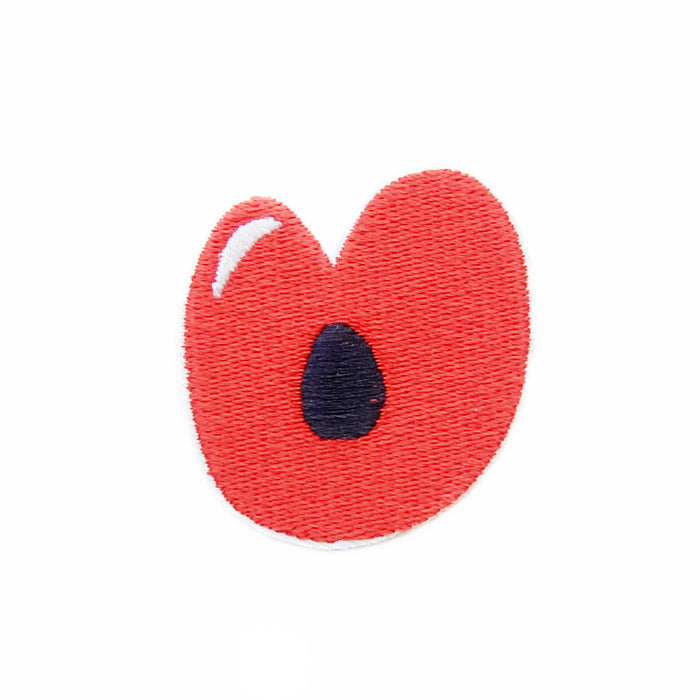 Juicy lip iron-on embroidered patch