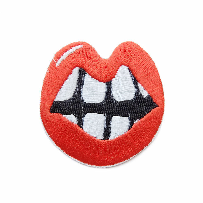 Beauty buck teeth iron-on embroidered patch
