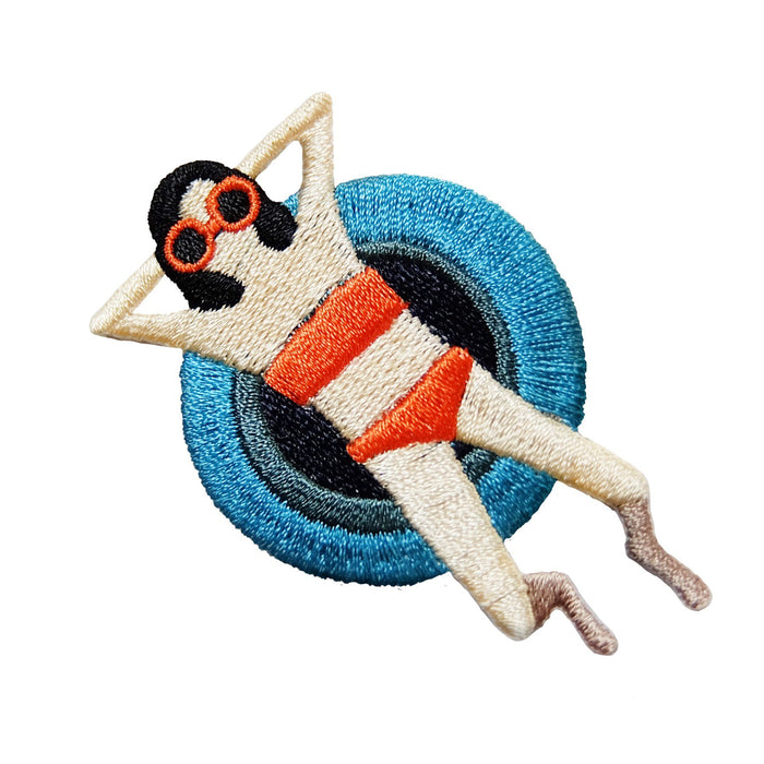Summer girl no.1 iron-on embroidered patch