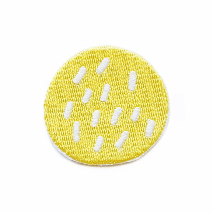 Biscuit cheek iron-on embroidered patch