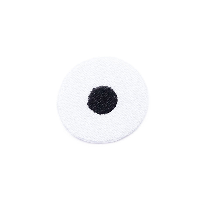 Dotty eye iron-on embroidered patch