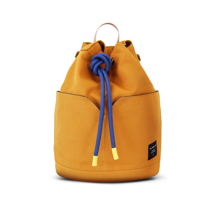 Dumpling backpack - mustard