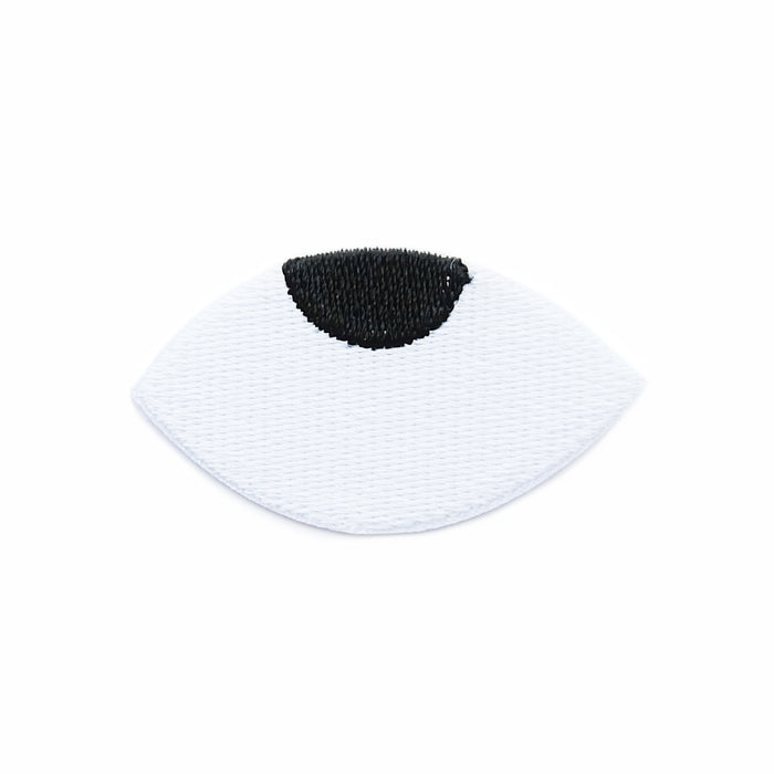 Goggle eye iron-on embroidered patch