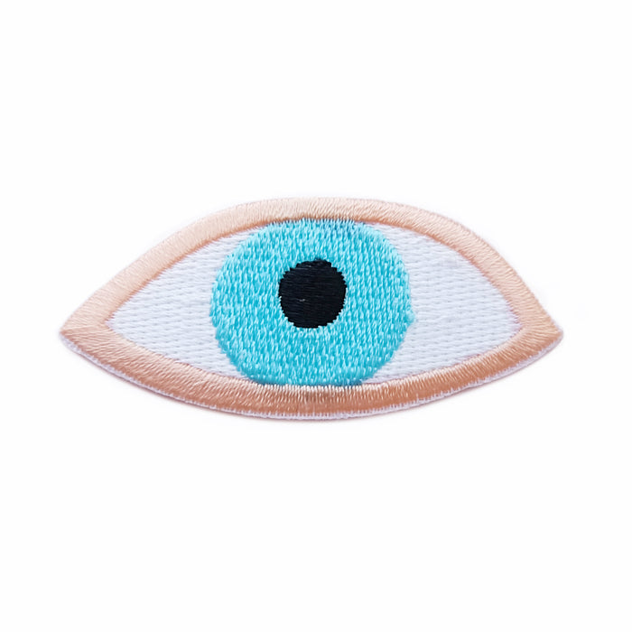 Timo eye iron-on embroidered patch