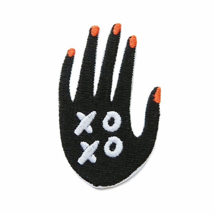 xoxo iron-on embroidered patch