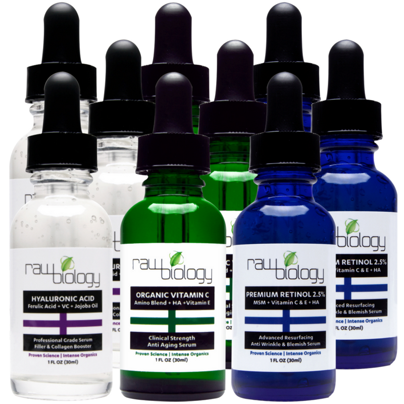 3 Boxes of Raw Biology's Liquid Facelift All-in-1 Trinity