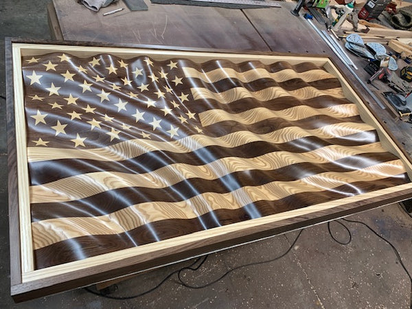 "The ""Amber Waves of Grain"" American Flag"