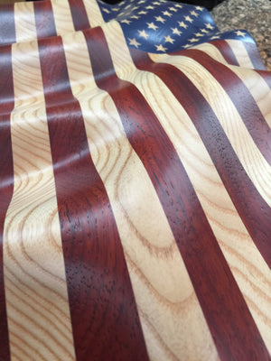 "Unframed Old Glory ""Waves of Grain"" American Flag"