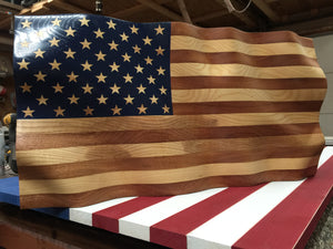 "Custom ""Amber Waves of Grain"" American Flag for C.G."