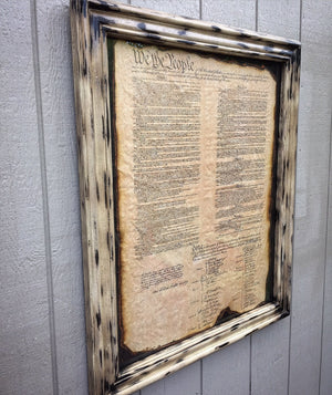 """We the People"" Framed Constitution"