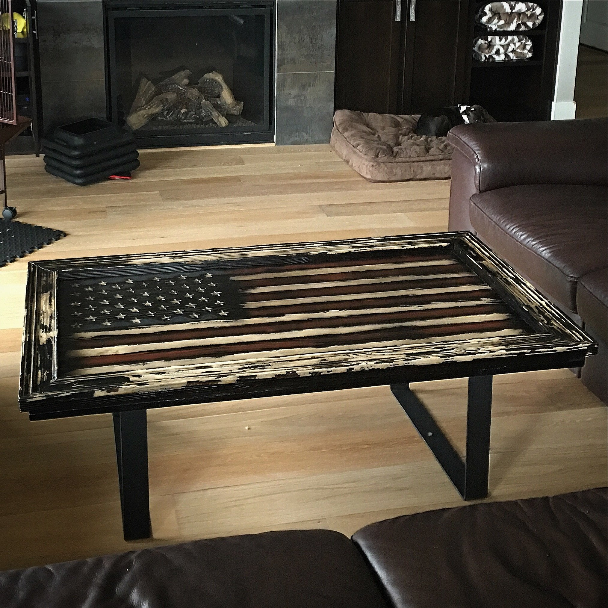 Colonial Freedom American Flag Coffee Table