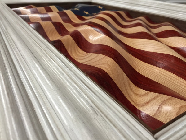 "Colonial Betsy's ""Waves of Grain"" American Flag"
