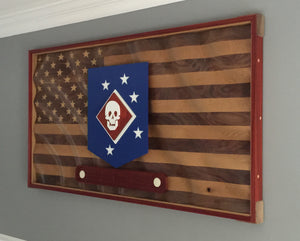 "The ""Amber Waves of Grain"" American Flag w/custom logo"