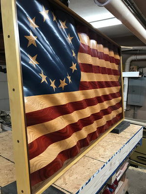 "Betsy's ""Golden Waves of Grain"" American Flag"