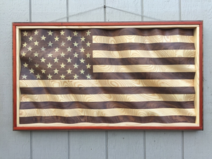 "Custom ""Amber Waves of Grain"" American Flag for M.M."