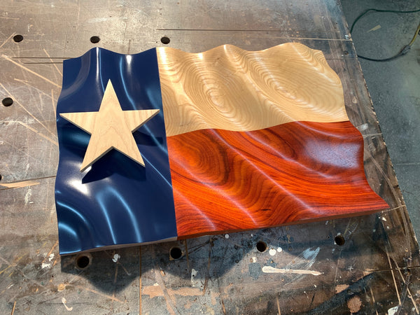 "Custom The ""Waves of Pride"" Texas Flag for Sterling"