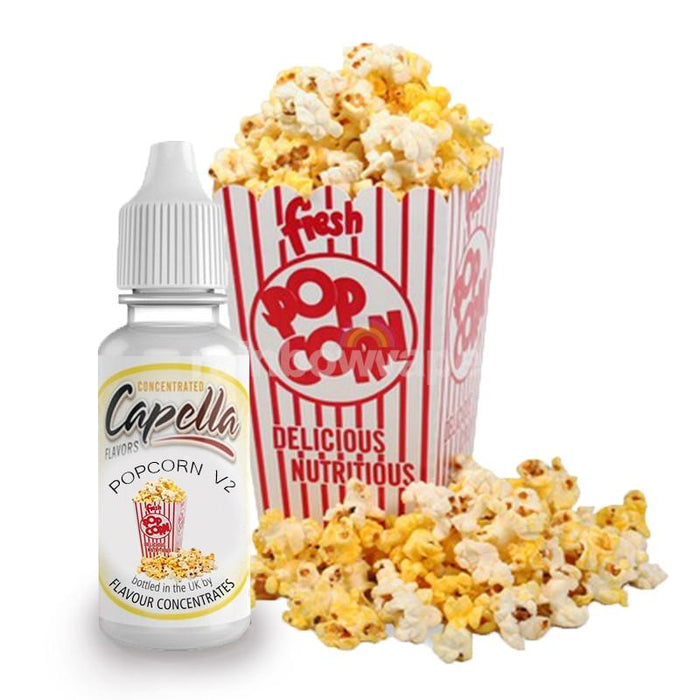 Capella Popcorn V2 Flavour Concentrate By Capella - rainbowvapes