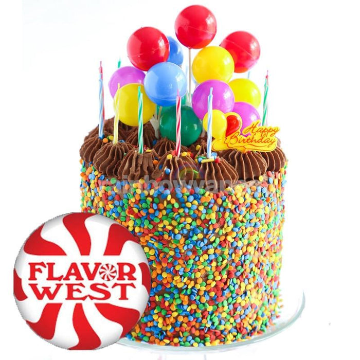 Flavorwest Birthday Cake Flavor West Flavour Concentrate - rainbowvapes