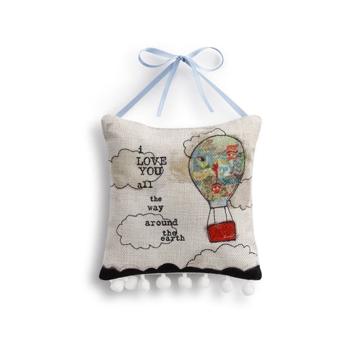 HOT AIR BALLOON WALL ART-pillow