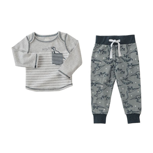 Dinosaur 2 Piece Pants Set by Mud Pie