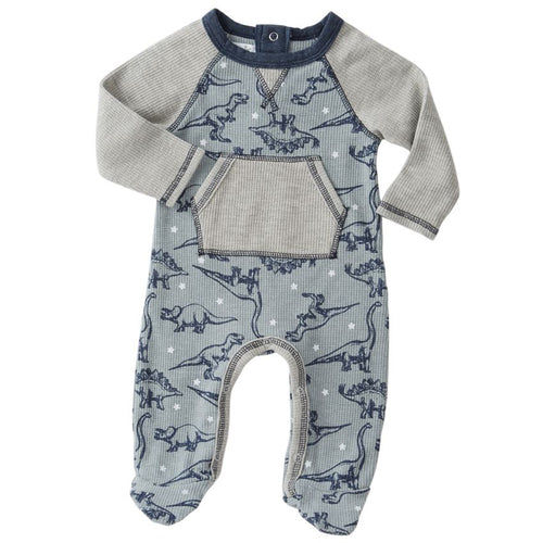 Dinsosaur Raglan Sleeper by Mud Pie