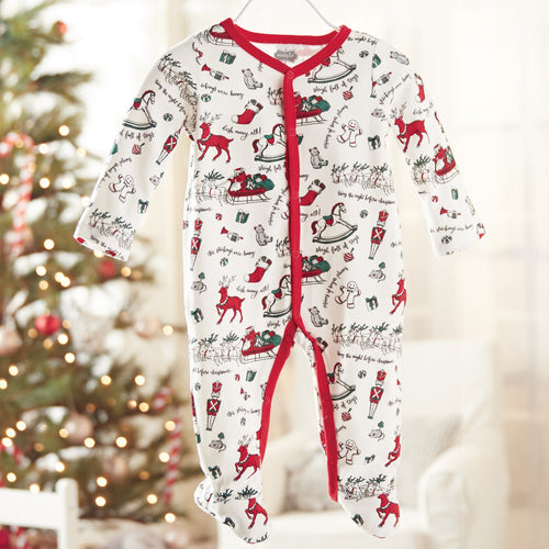 Very Merry Red Trim Christmas Sleeper by Mud Pie