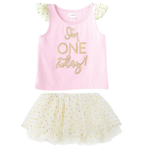 """I'm One"" BIRTHDAY PRINCESS TUTU SKIRT SET"
