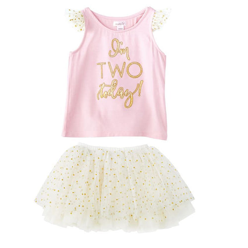 """I'm Two"" BIRTHDAY PRINCESS TUTU SKIRT SET"