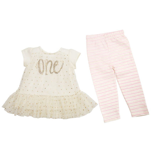 BIRTHDAY PRINCESS TUNIC & LEGGINGS SET-I'm 1