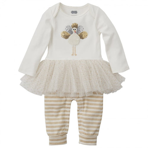 Turkey Tutu One-Piece Baby outfit by Mud Pie