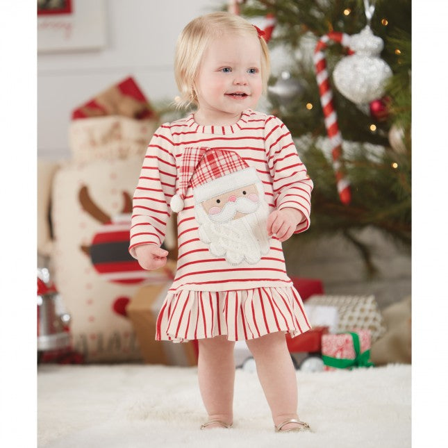 Santa Flounce Dress by Mud Pie