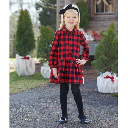 Buffalo Check Dress by Mud Pie