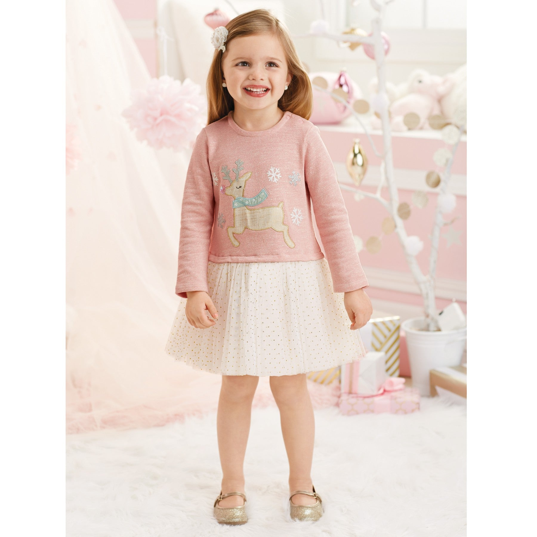 Reindeer Sparkle Tutu Dress by Mud Pie