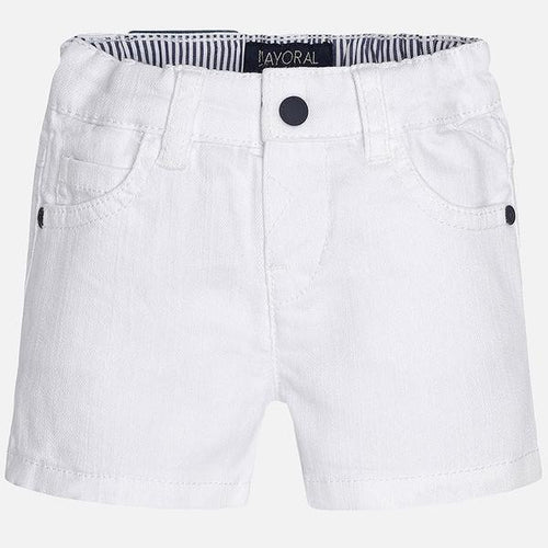 Mayoral Baby Boy White Short