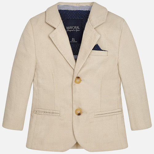 Mayoral boy linen jacket-sand