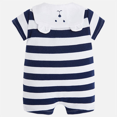 Mayoral newborn baby boy striped onesie